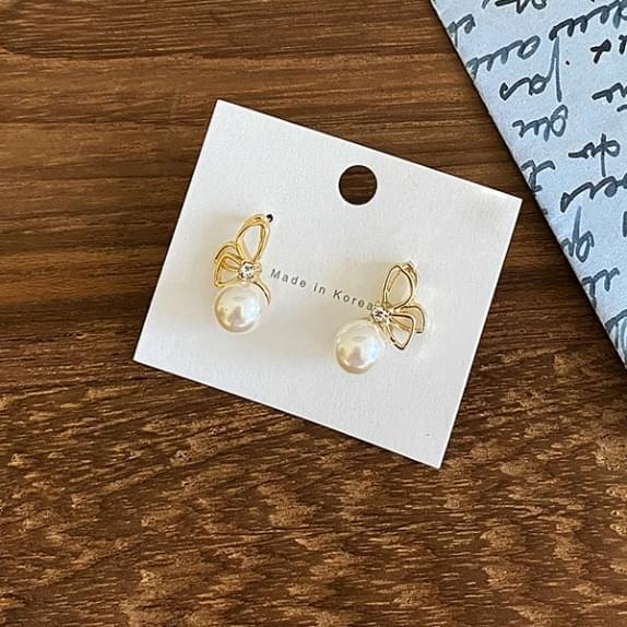 Butterfly Earrings Silver Needle