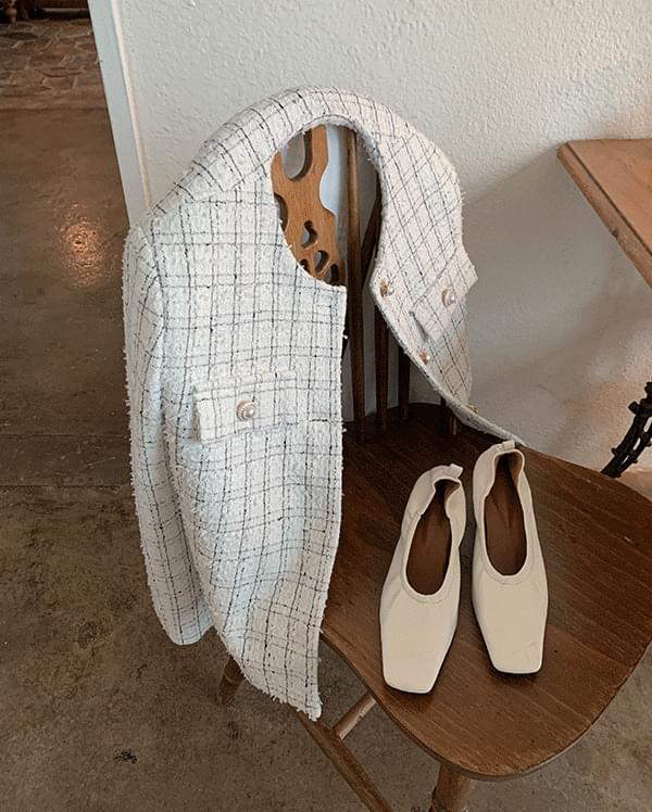 Mael pearl tweed jacket