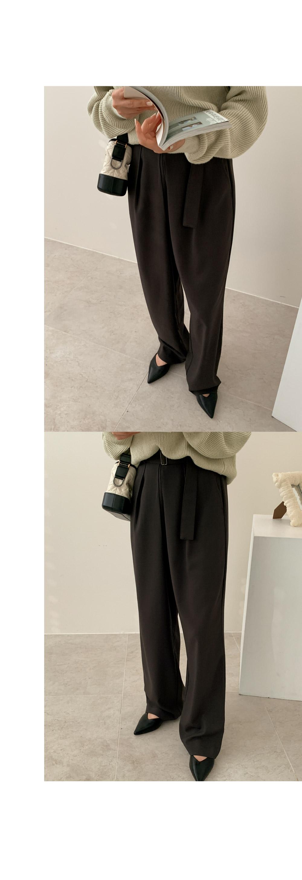 Send belt pants / charcoal