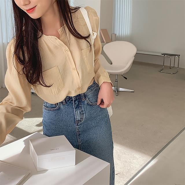 Allen wrinkle blouse