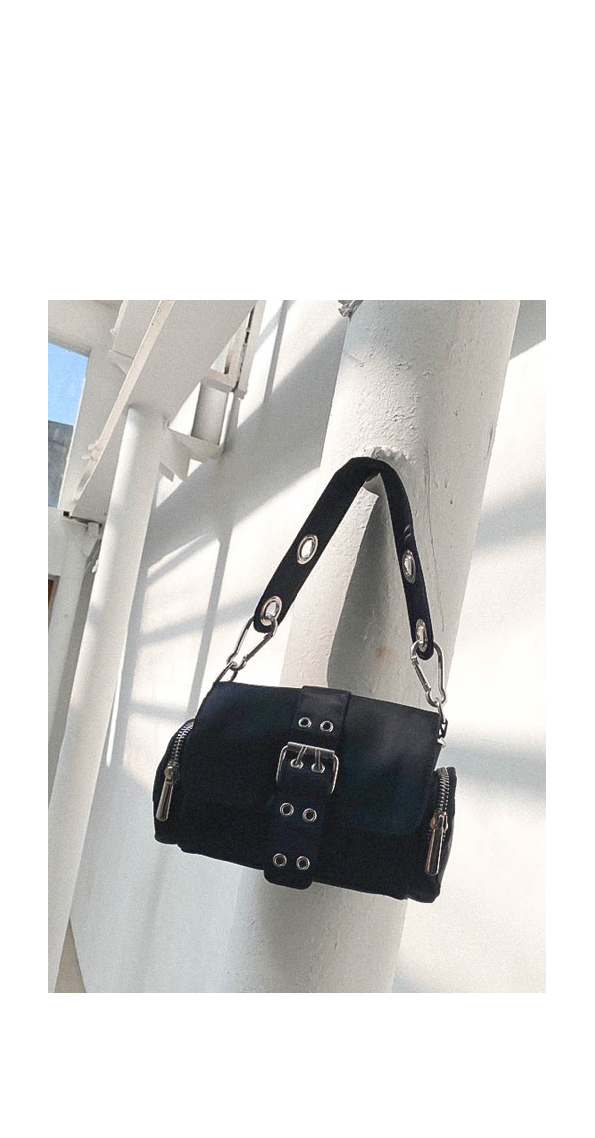 Eyelet eddy tote bag