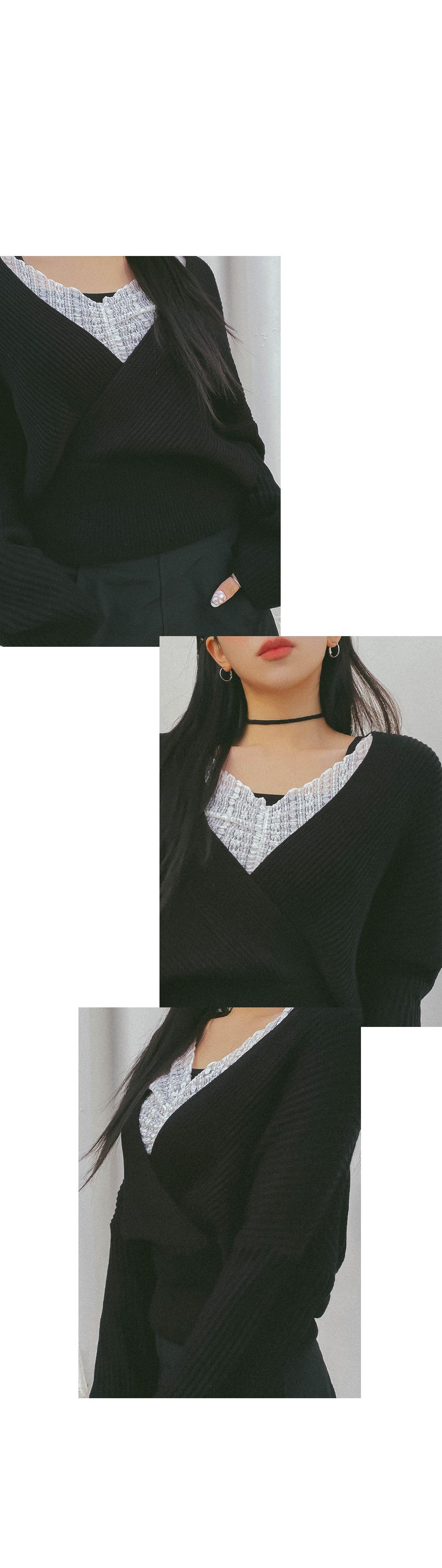 Crop Lia Wrap Knitwear