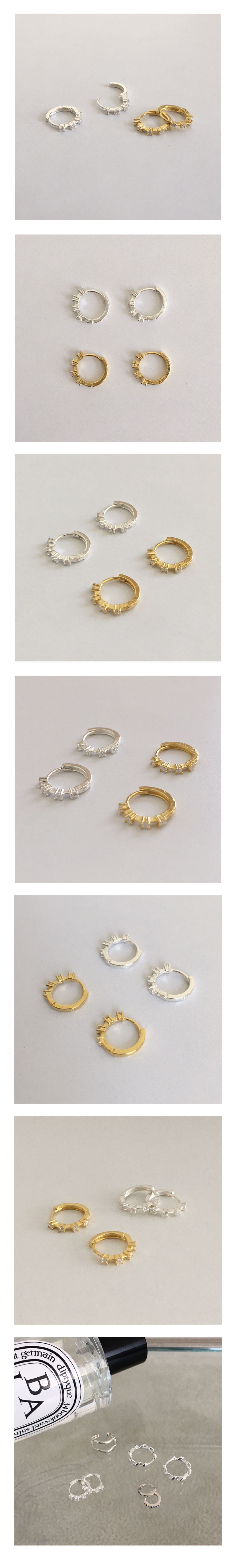 cubic onetouch earring