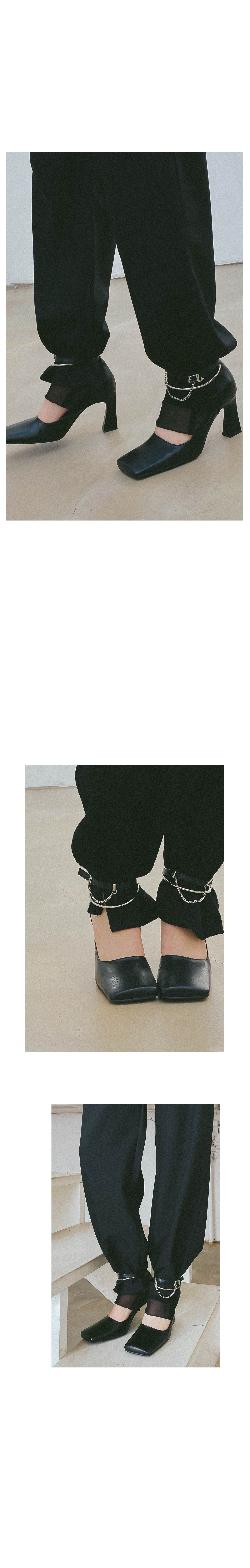 Three Way Square Heel Shoes