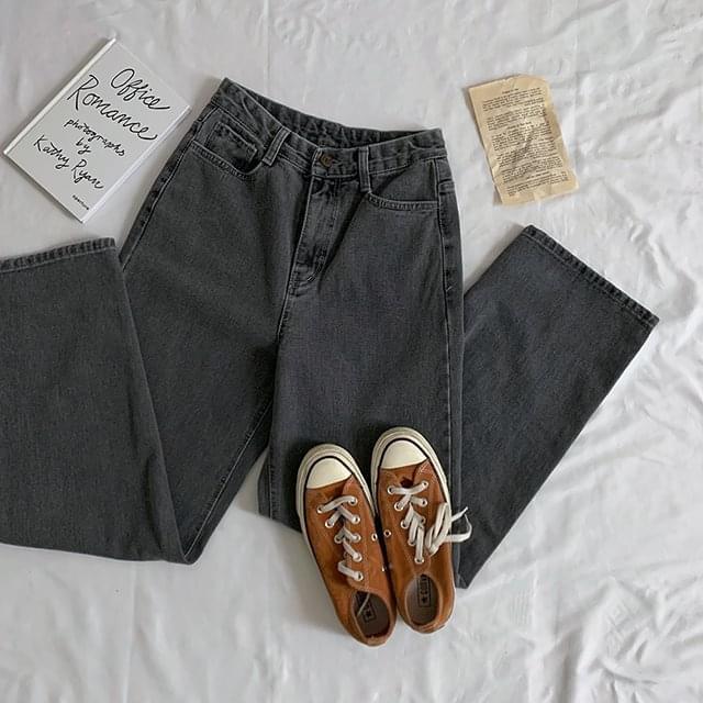 Chino Gray Denim Wide Pants