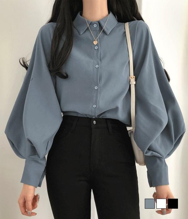 Dali sleeve puff blouse