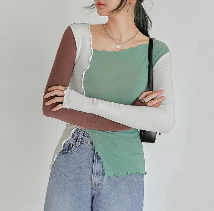 Lettuce Trim Color Block T-Shirt