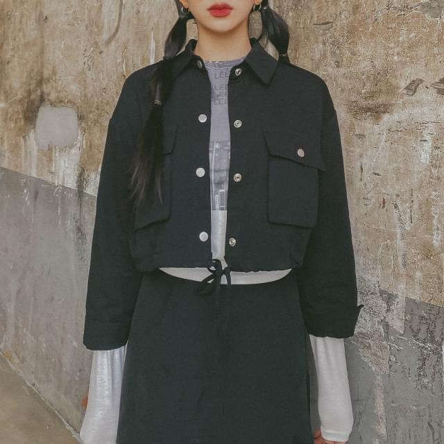 Cropped peppy shirt & jacket