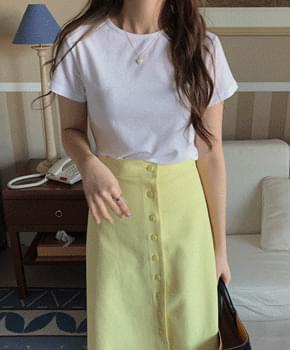 韓國空運 - Shuobi Color Short Sleeve Tee 短袖上衣