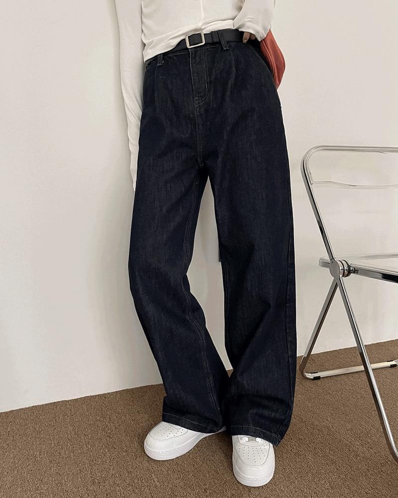 Genuine Raw Pintuck Long Wide Pants