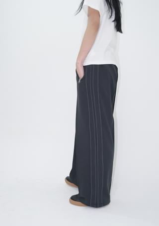 wide stitched track pants