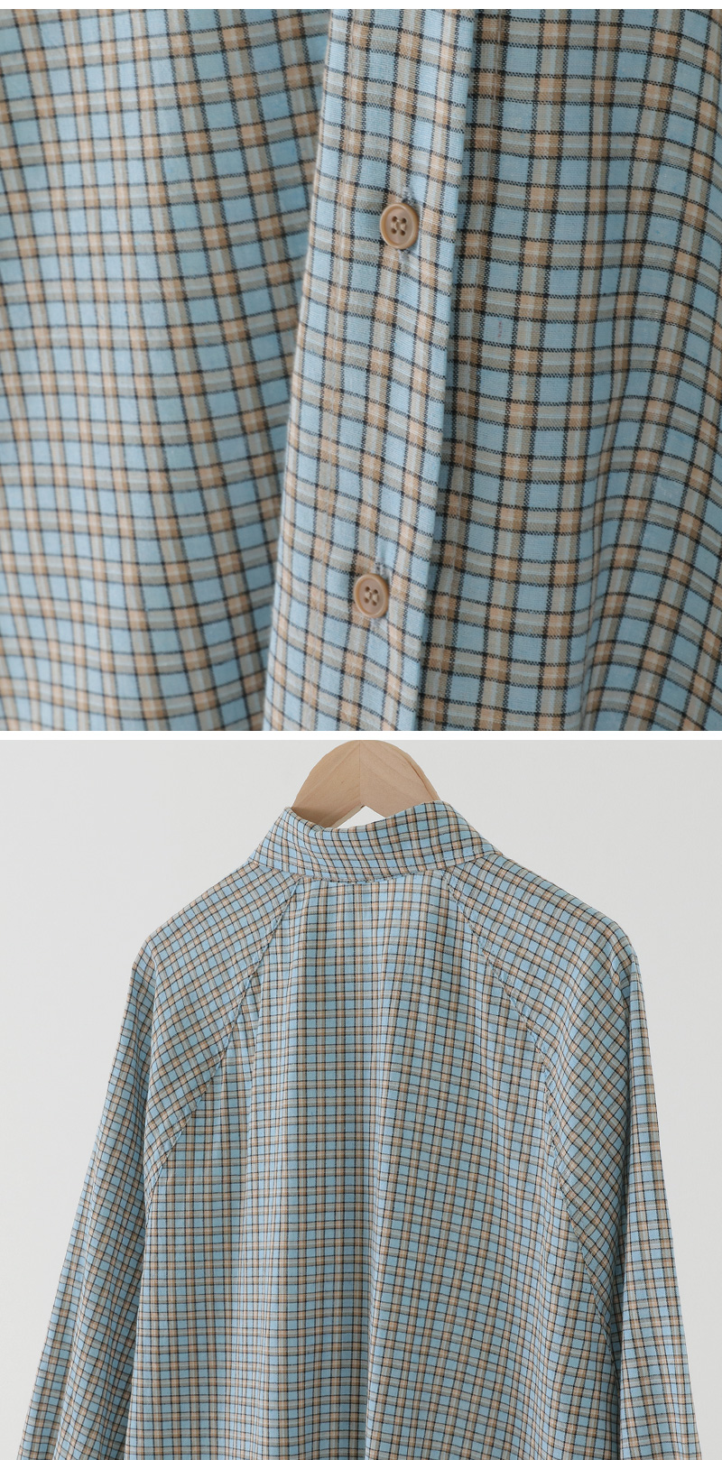 Cookie Raglan Check Shirt