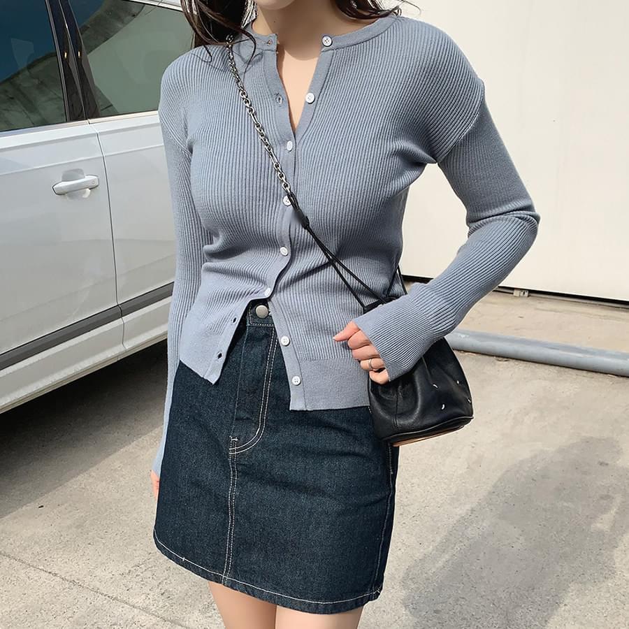 Stitch Denim Skirt