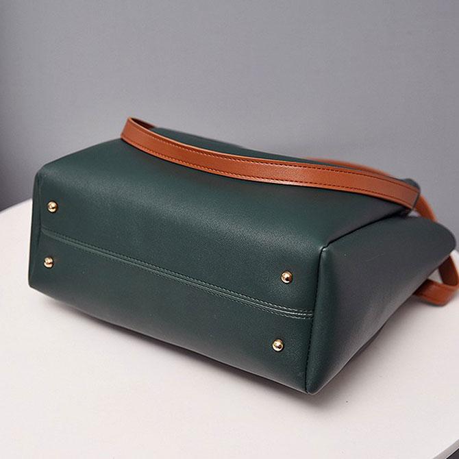 Mer casual bucket plain simple shoulder bag