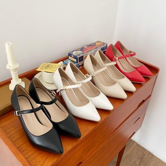 Alice Strap Mary Jane High Heels 7cm