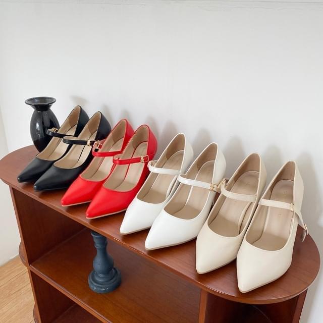 Arena Stiletto Mary Jane High Heels 9cm