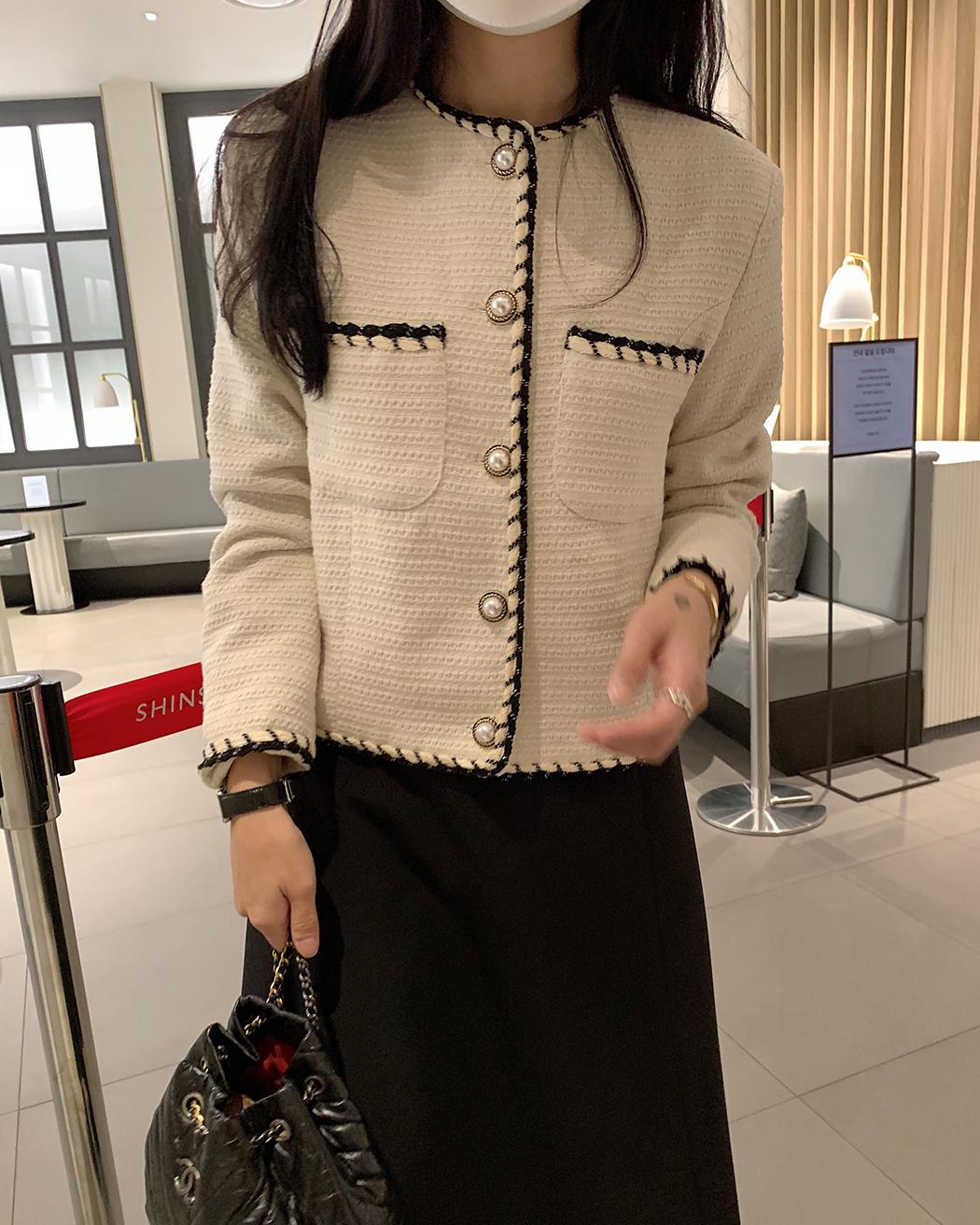 Laysha color tweed jacket