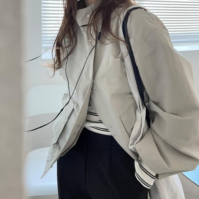 Mulley high-neck string Jacket