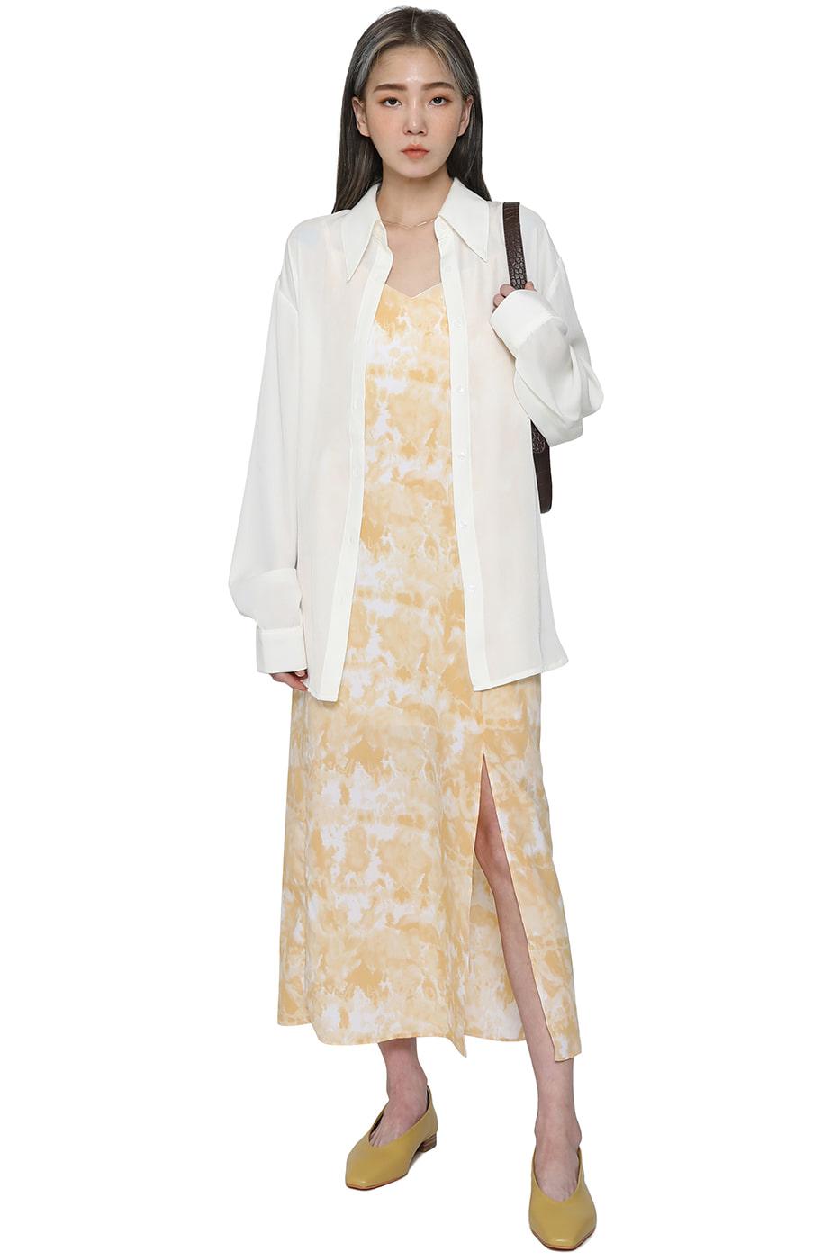 Label sleeveless maxi dress