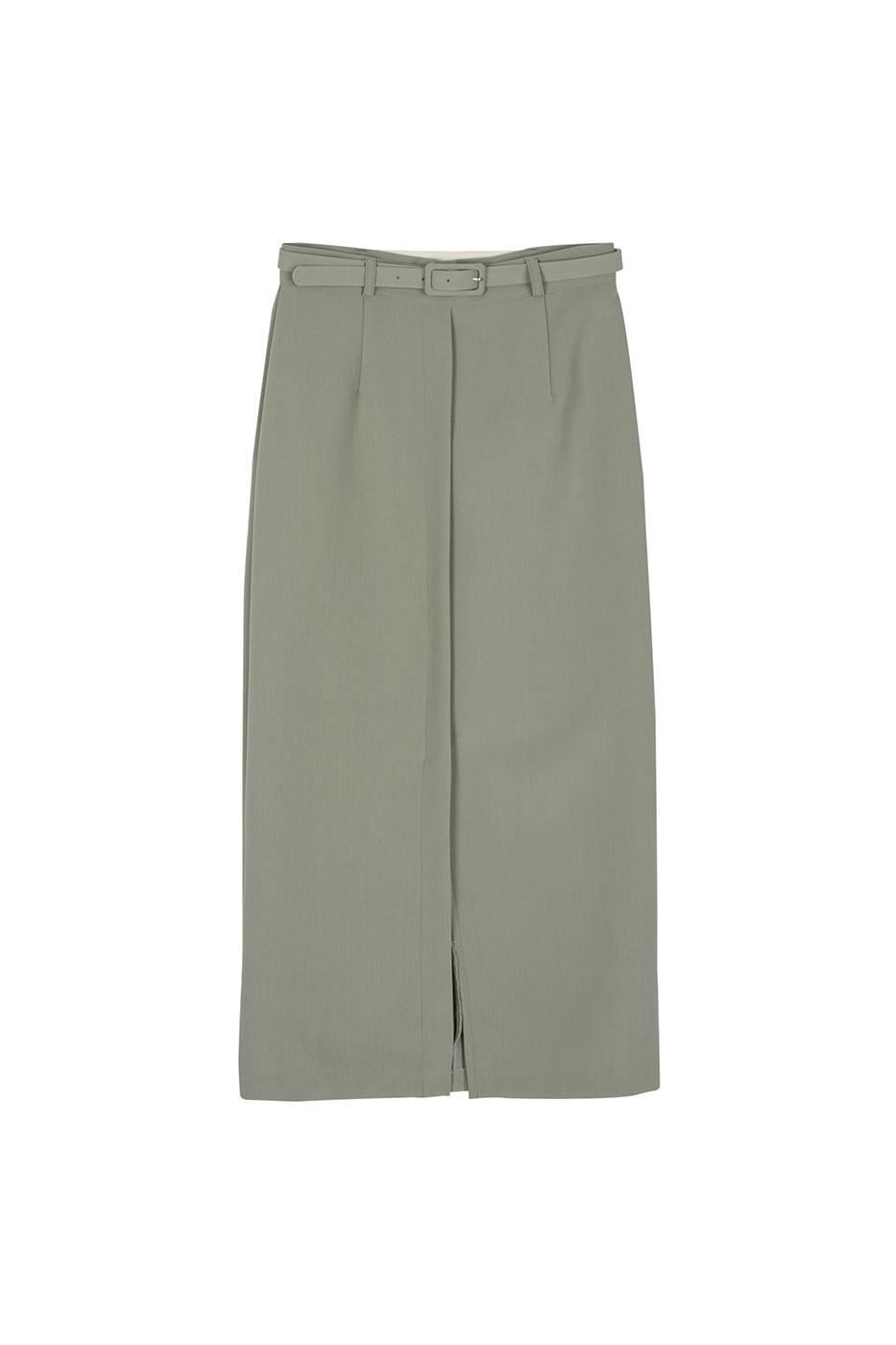 Sander belted maxi skirt