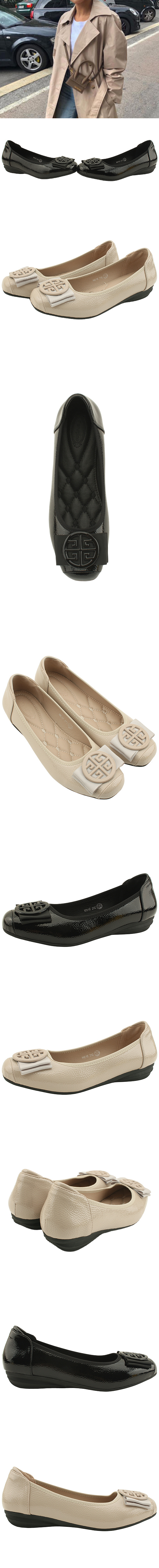 Feminine Ribbon Wedge Heel Loafer Shoes Beige