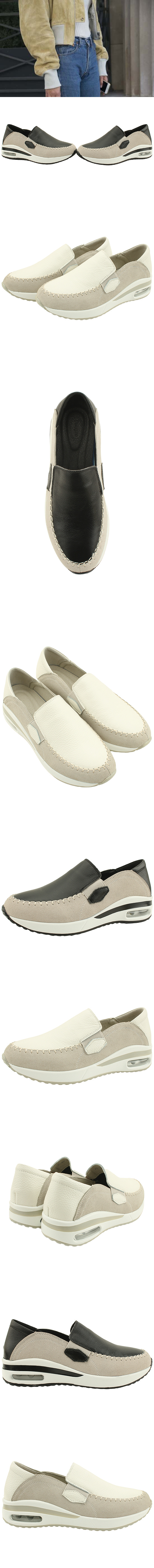 Cowhide and Suede Combi Sneakers White