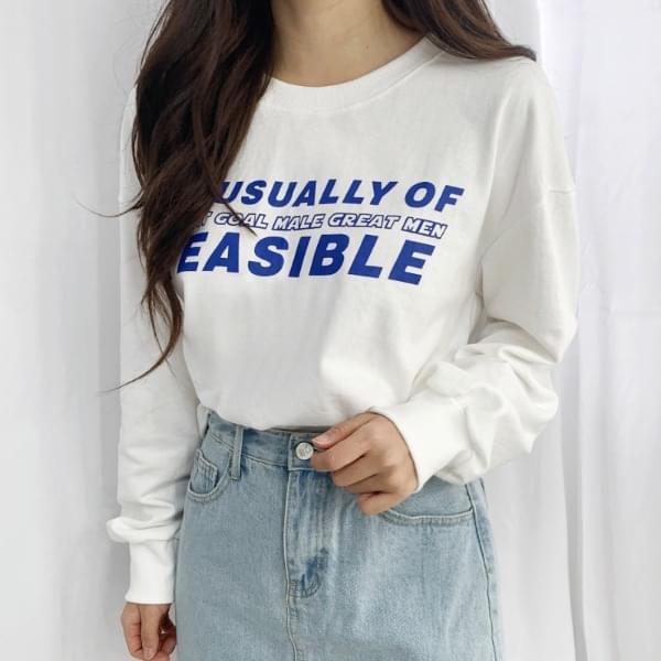 Off Lettering Crop Sweatshirt