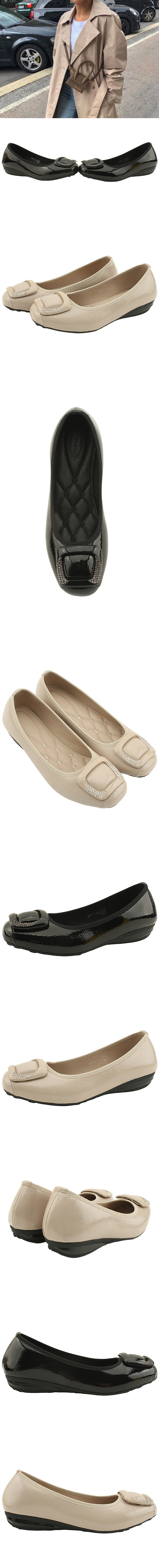 Feminine Cubic Wedge Heel Loafer Shoes Black