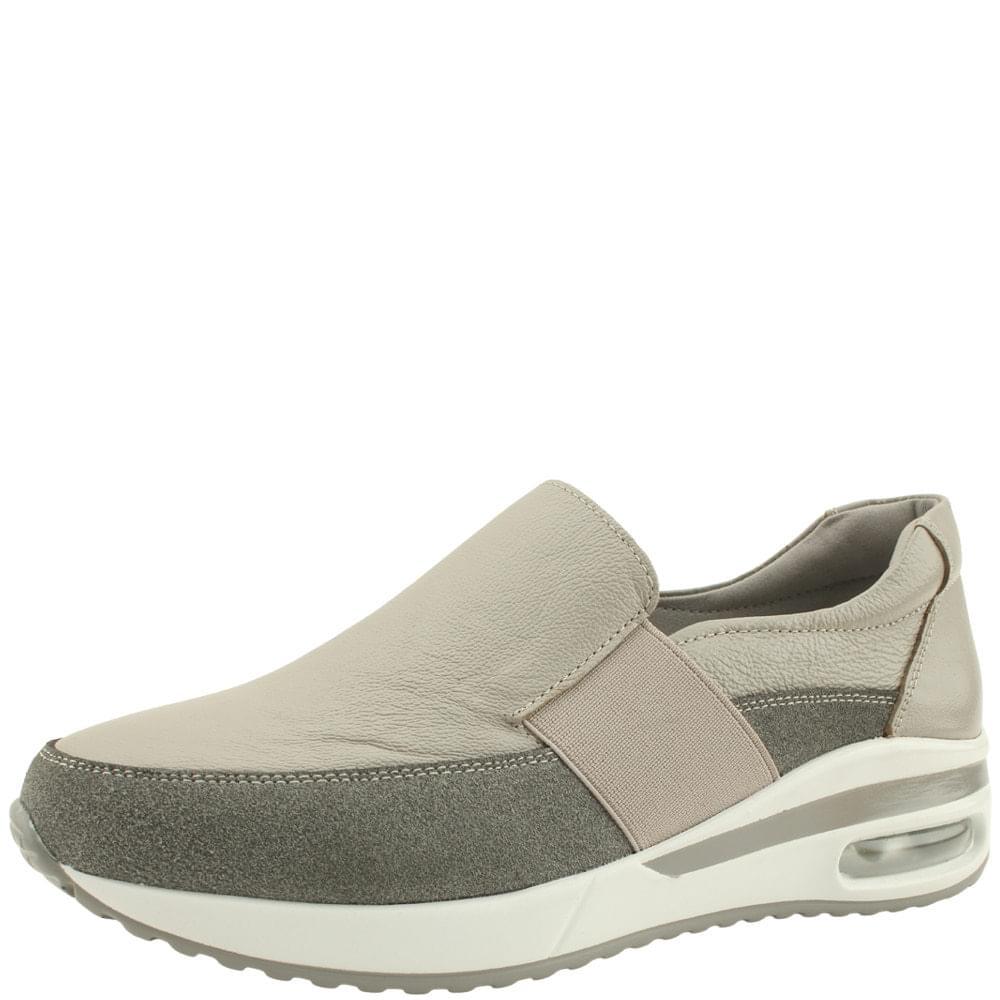 Cowhide Cushioning Air Sneakers Gray