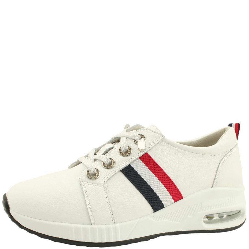 Cowhide Air Casual Sneakers White