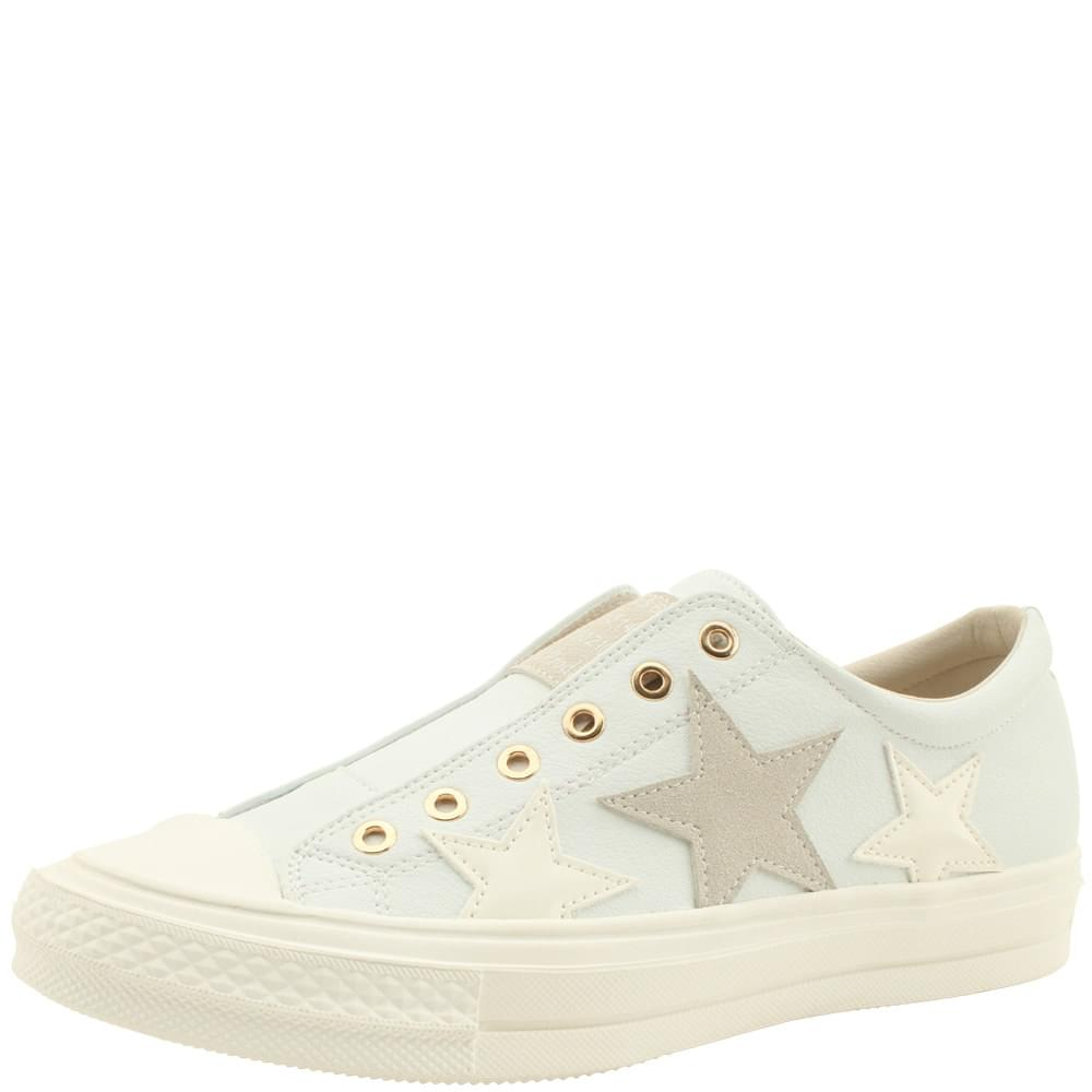 Cowhide Canvas Shoes Low Sneakers White