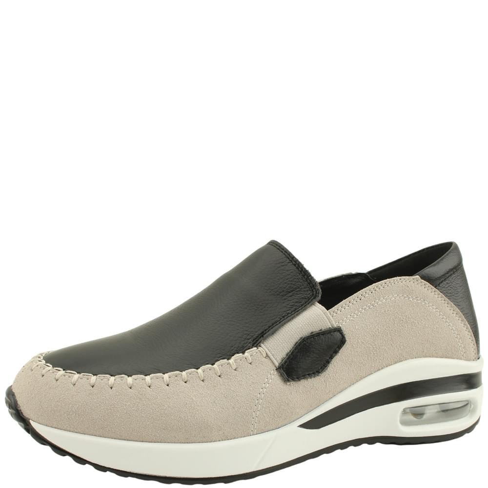 Cowhide and Suede Combi Sneakers Black