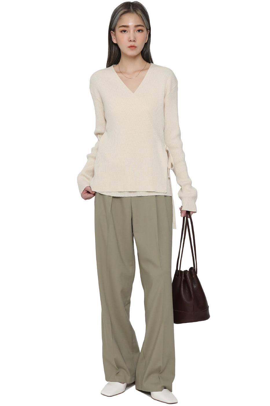 Sophia Wrap Knitwear Top