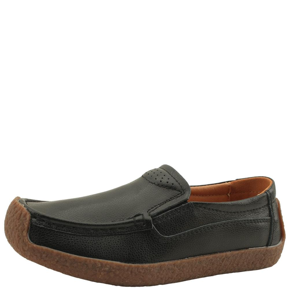 Cowhide Simple Comfort Shoes Loafers Black