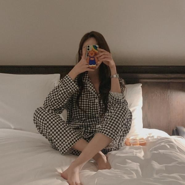 Allen Check Pajamas SET