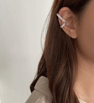 韓國空運 - Long Cubic Ear Cuff #86443 耳環