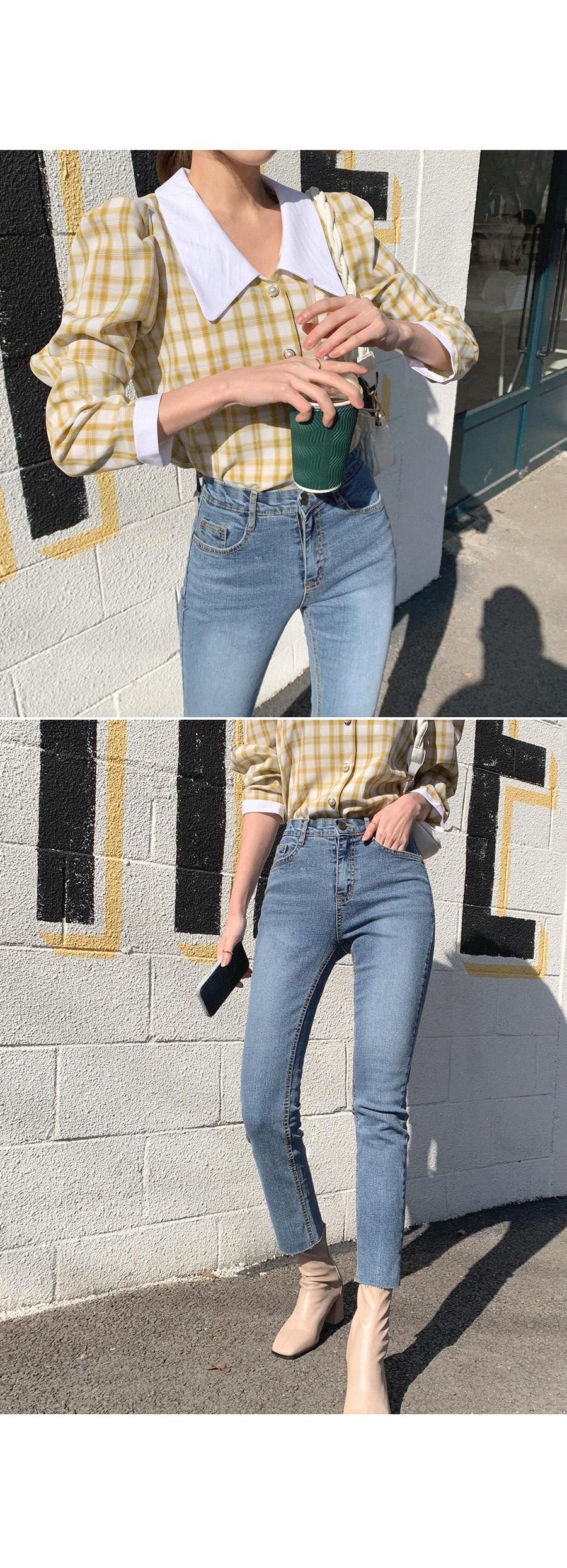 Skinny Straight Fit Denim Pants