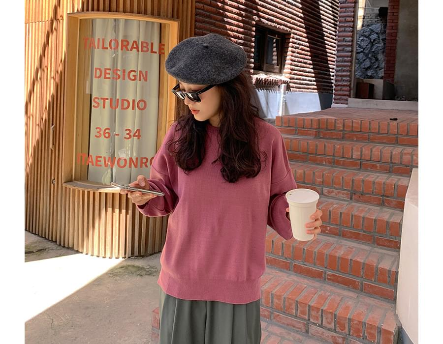 All Day Loose Fit Round Knit