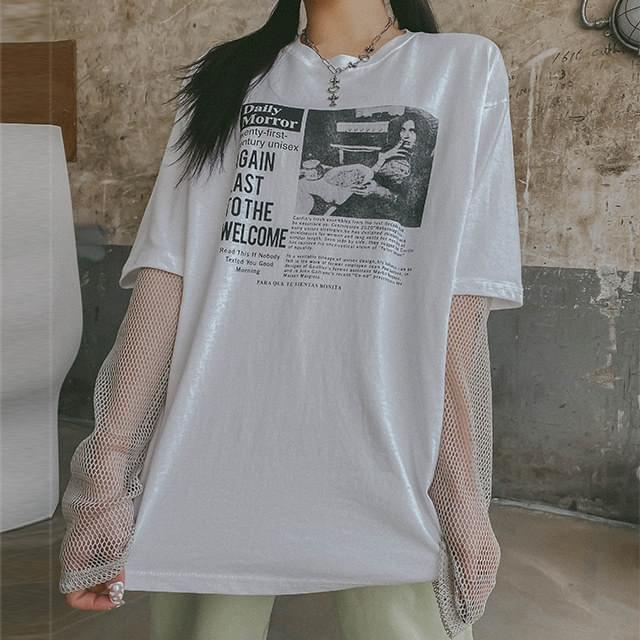 Loose-fit Freedom Printed T-shirt