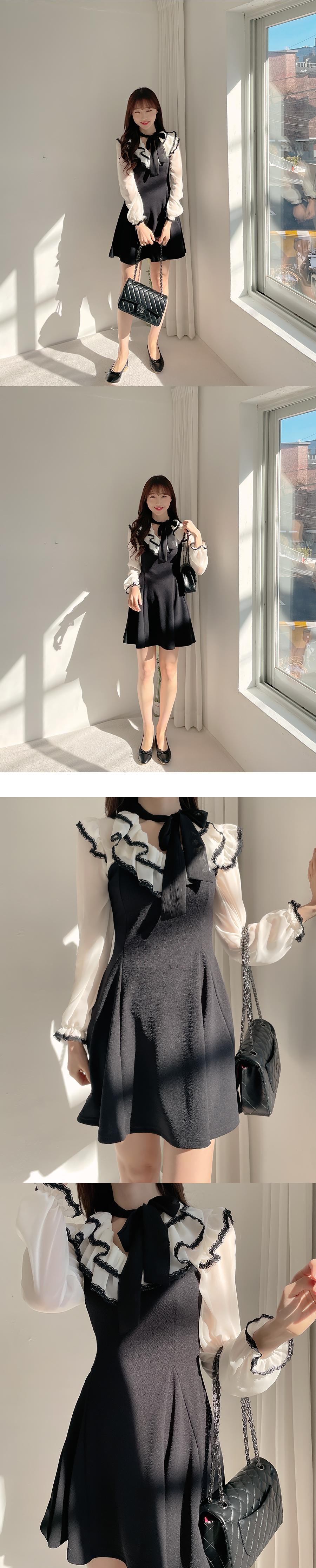 Amelie frill tie Dress 2color