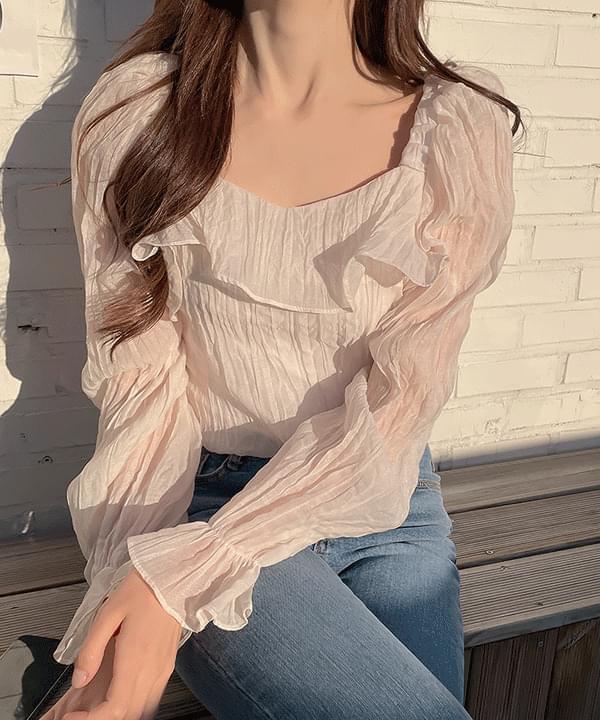 Anko Shirring Off Shoulder Blouse 4color