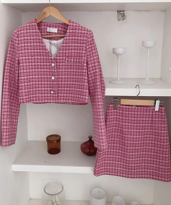 Wendy Tweed Short Jacket 3color