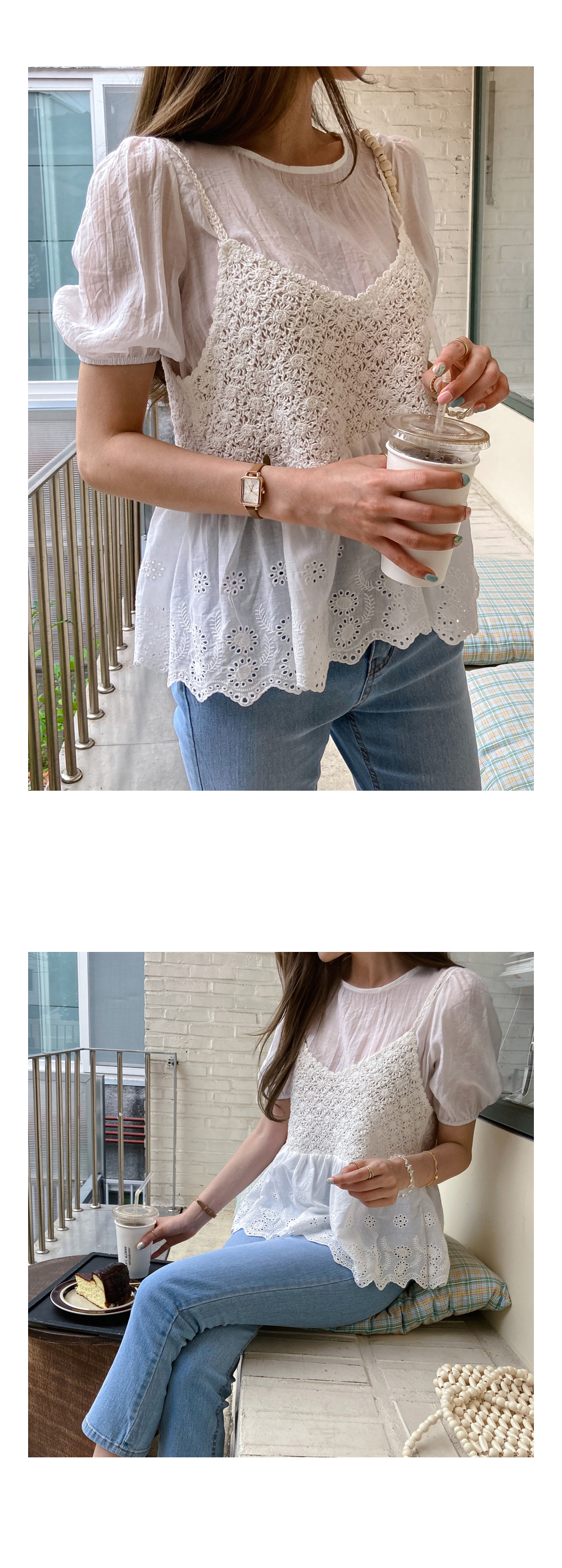 Knitted bustier + blouse SET