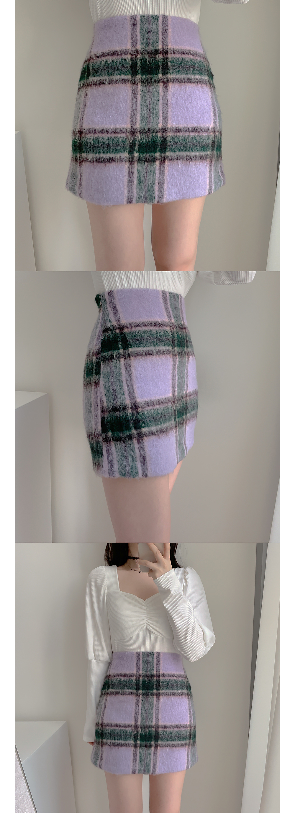 Sofia Puff Shirring Ribbed Knitwear Tee 3color