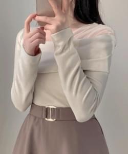 Silky Unfoot Fleece-lined Knitwear Tee 3color