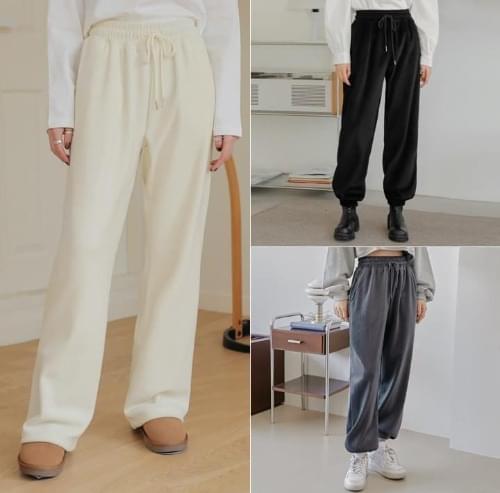 Drawstring Shirred Waist Jogger Pants