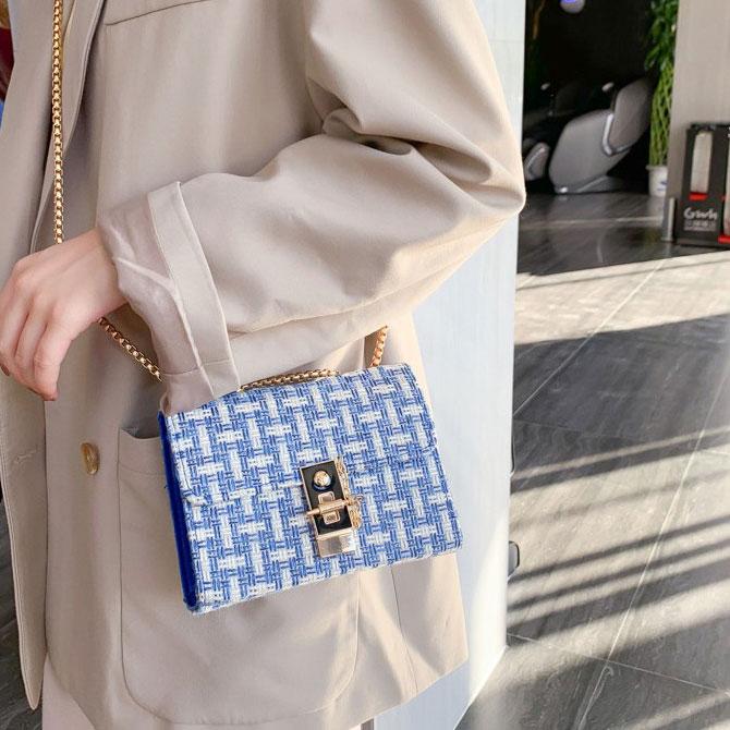 Casual Fashion Color Chain Square Shoulder Bag