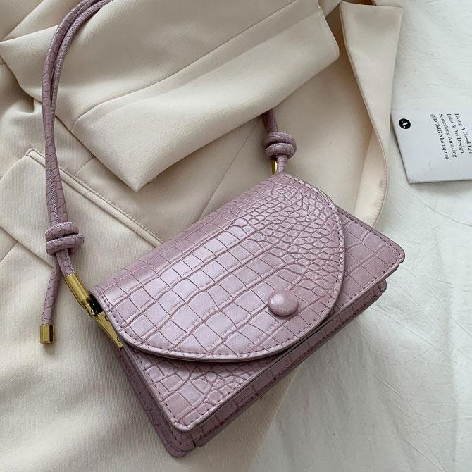 Magia Crocodile Pattern Mini Knotted Shoulder Bag