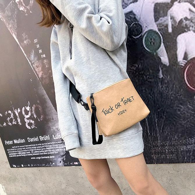 Casual wild strap square shoulder bag