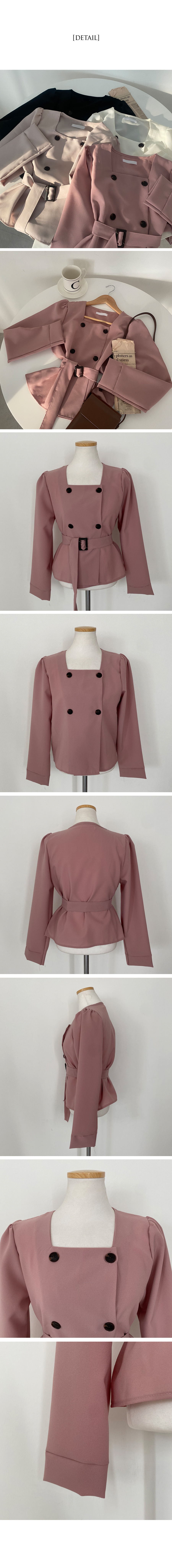 Emma Trench-like blouse